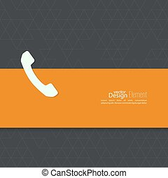 Abstract background with handset - Abstract background with...