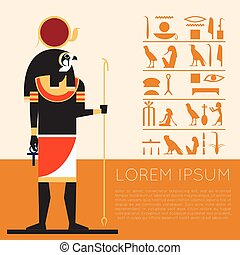 Egypet Ra banner1 - Vector image of the Ra the god of the...