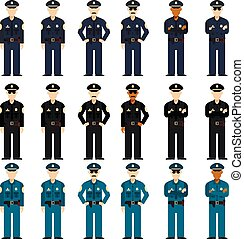 Set of police men - Vector image of the Set of police men