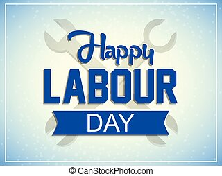 Happy Labour Day - nice and creative vector abstract for...