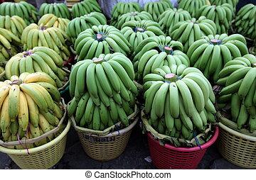 ASIA THAILAND BANGKOK BANGLAPHU PAK KHLONG MARKET - bananas...