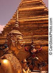 ASIA THAILAND BANGKOK WAT PHRA KAEW - the temple of Wat Phra...