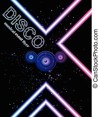 Disco club flyer - Disco club flayer with colorful elements...