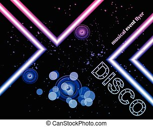 Disco club flyer - Disco club flayer with colorful elements....