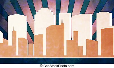 Retro City version three - Slower pace retro city background...