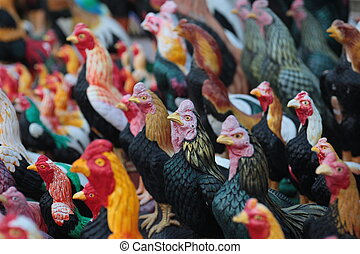 ASIA THAILAND ISAN KHORAT CHICKEN TEMPLE - a chicken Temple...