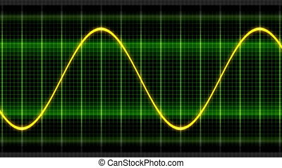 Seamless looping animation oscillogram sine waves - Seamless...