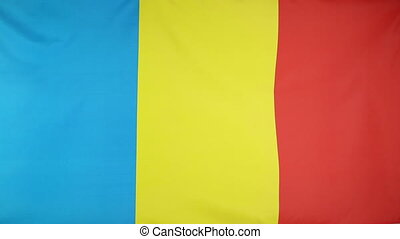 National flag of Romania - Fabric national flag of Romania...