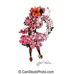Flower Children Apple Blossom - Vintage Flower Children...