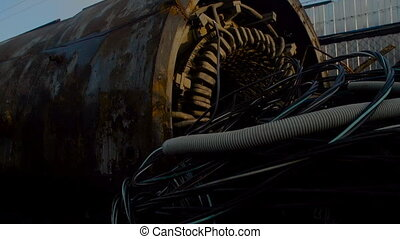 Hydraulic Drum on Metal Scrapyard - Hydraulic Drum and Gas...