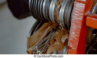 Metal Scrap Wire Cleaning From Waste. Metal Scrap Recycle