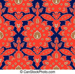 Ottoman Turkish style floral seamless pattern - Ottoman...
