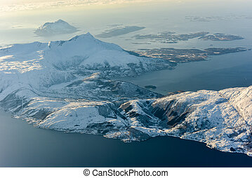 Aerial View - Fjords of Norway