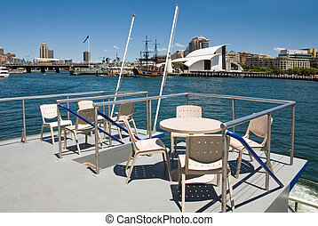 Deck with a View - A Darling Harbour scene captured from...