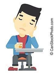 Man sitting at bar. - An asian man sitting at bar vector...