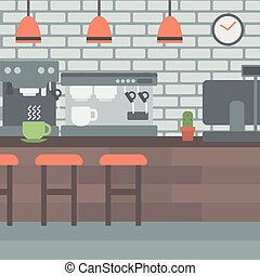 Background of coffee house - Background of coffee house...