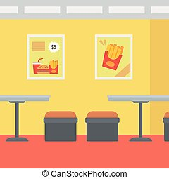Background of fast food restaurant - Background of fast food...