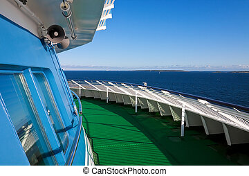 Cruise liner deck  - Cruise liner deck