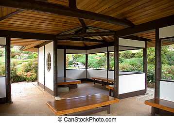 Japanese Teahouse - A teahouse in the Cowra Japanese Garden,...