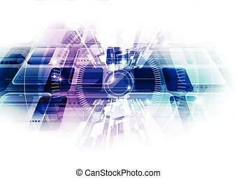 Abstract future technology background. vector illustration
