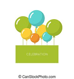 Abstract background with balloons Place for text...