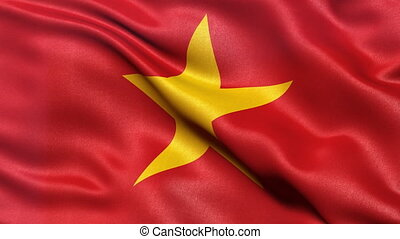 Flag of Vietnam seamless loop