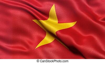 Flag of Vietnam seamless loop