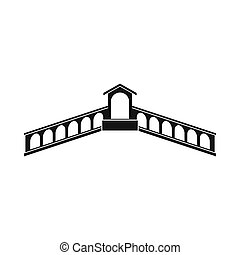 Rialto Bridge, Venice icon, simple style - Rialto Bridge,...