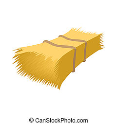 Haystack cartoon icon isolated on a white background