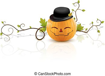 pumpkin hat laughs - laughing pumpkin with hat, a symbol of...