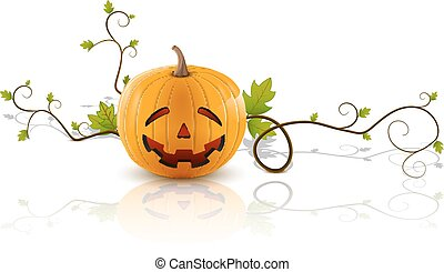 pumpkin laughs - laughing pumpkin, a symbol of halloween, on...