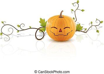 pumpkin laughs2 - laughing pumpkin, a symbol of halloween,...
