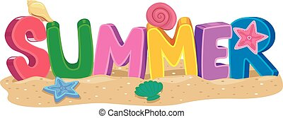 Summer 3D letters with Elements