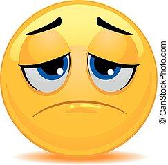 Smiley Emoticon Sad Face - Vector Illustration of Smiley...