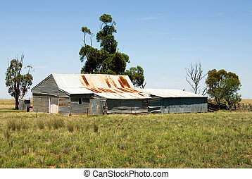 Old Shearing Shed - An old shearing shed on a farm in...