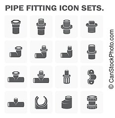 Pipe fitting icon