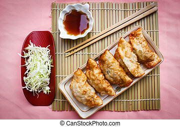 Fried Dumpling - Gyoza. - Fried Gyoza, dumplings popular...
