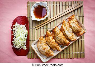 Fried Dumpling - Gyoza. - Fried Gyoza, dumplings popular...
