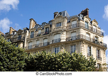 Apartment Building - A Parisian apartment building, adjacent...