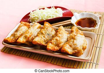 Fried Dumpling - Gyoza - Fried Gyoza, dumplings popular...