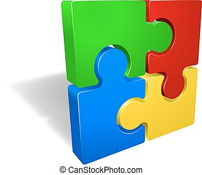 Jigsaw Puzzle - A jigsaw puzzle pieces icon illustration