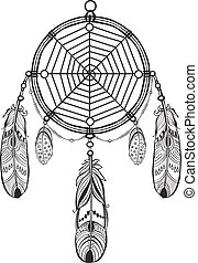 Dreamcatcher - Native American Indian talisman dreamcatcher...