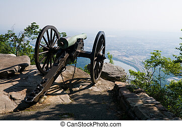Cannon - Civil War cannon, Lookout Mountain, Chattanooga,...