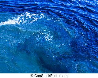 cloudy blue water spiraling - beautiful cloudy blue water...