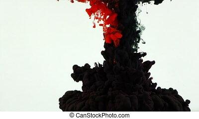 Art Liquid Paint Splash in Water