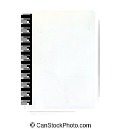 Blank realistic spiral notepad EPS 10 - Blank realistic...
