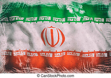 iran flag - 3d rendering of an Iran flag on a white...