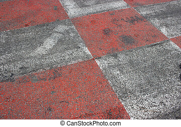 Red and White Car Race Asphalt in Monaco - Texture of Race...