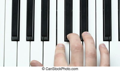 man hands piano playing