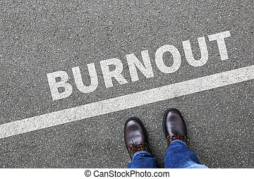 Burnout ill illness stress stressed at work businessman...